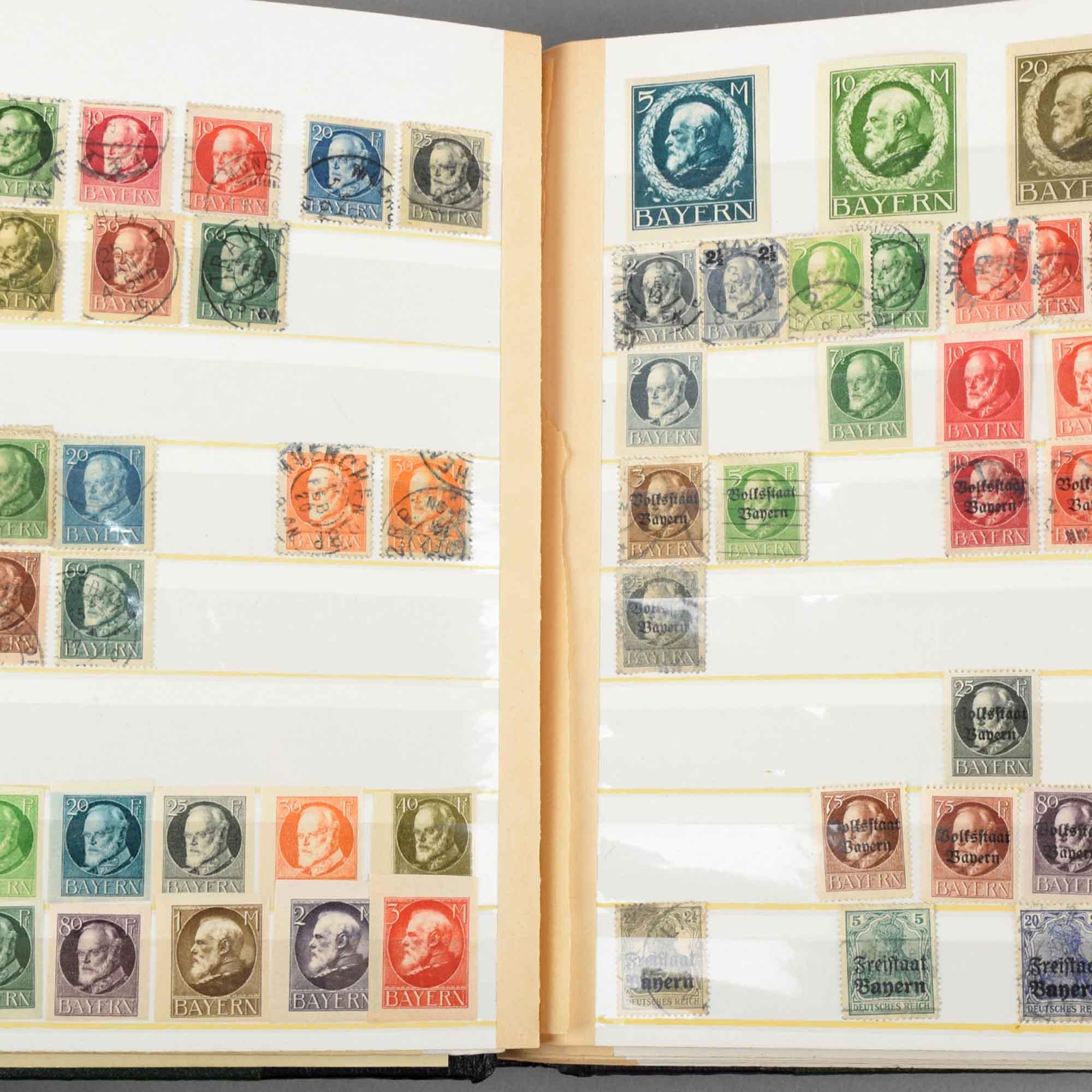 Sammlung Briefmarken Altdeutschland bis III. Reich und Besatzungszonen