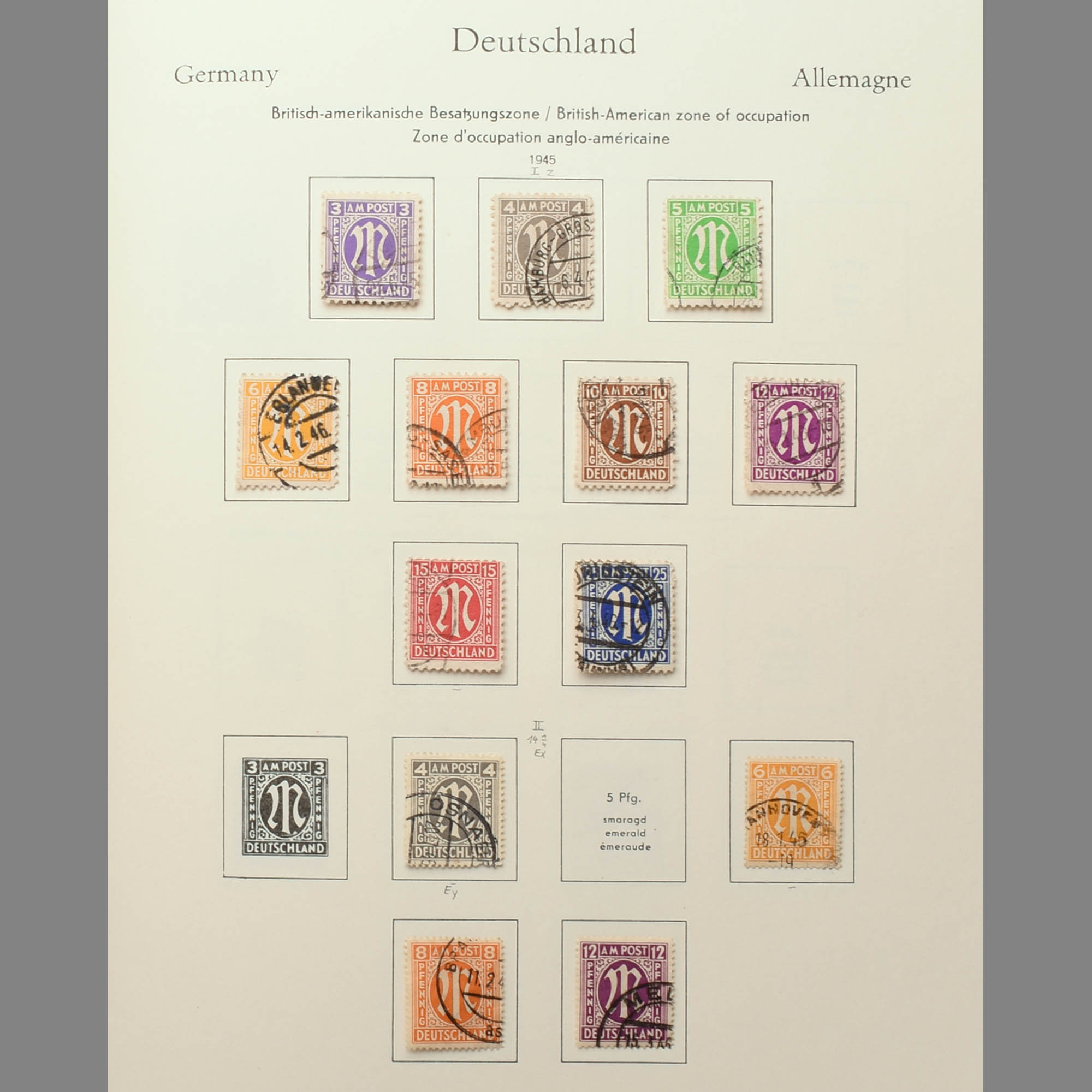 Konvolut Briefmarken Besatzungszonen, Bund und Westberlin